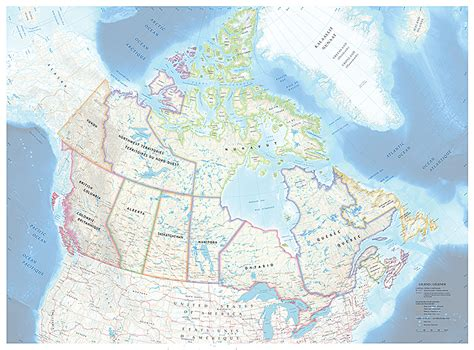 tiled map of canada canadian geographic