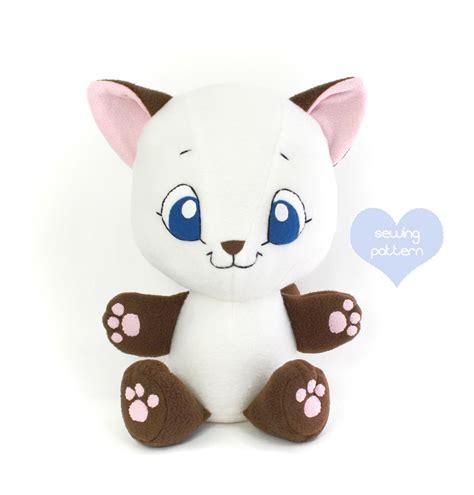 pattern for cat stuffed animal pdf sewing pattern cuddle cat stuffed animal easy cute