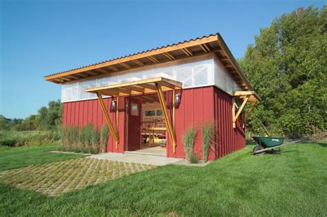 Non Wooden Garden Sheds Diy Shed Rustic Garage And Shed Minneapolis By M