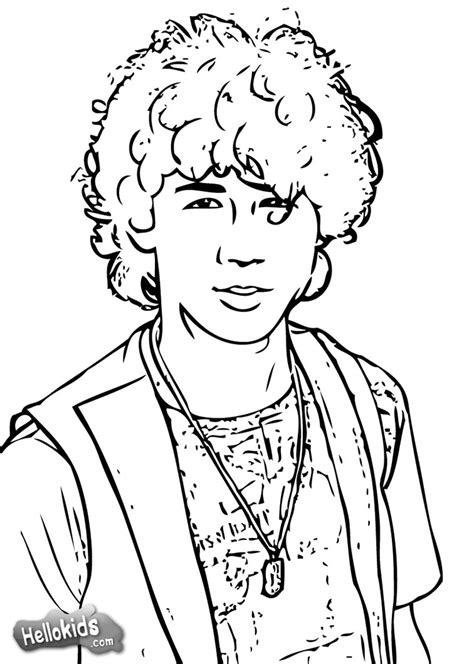 nick coloring pages online nick jonas coloring pages hellokids com