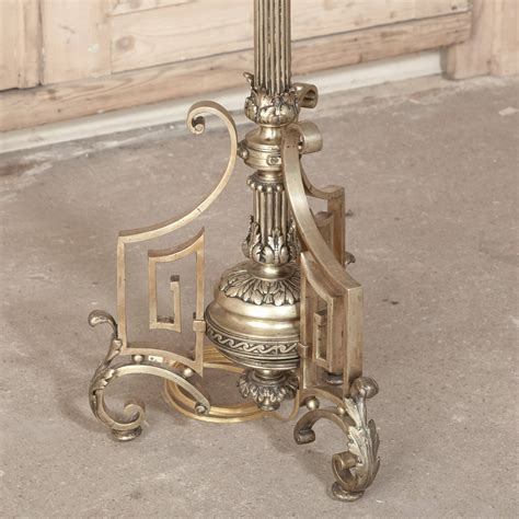 antique brass floor l antique neoclassical french bronze and brass floor l at