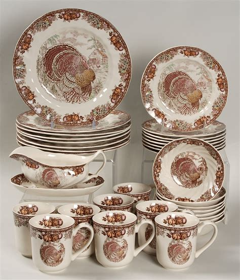 thanksgiving tableware sets autumn monarch by johnson brothers at replacements ltd