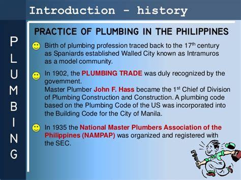 Us Plumbing Code by Presentation Plumbing