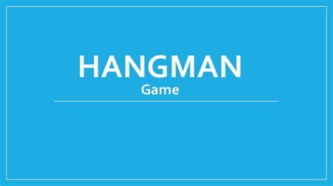 Hangman Game Is Interesting Hangman Powerpoint