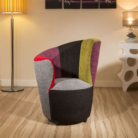 modern fabric armchair modern curved multi colour fabric armchair armchairs tub chair chairs ebay