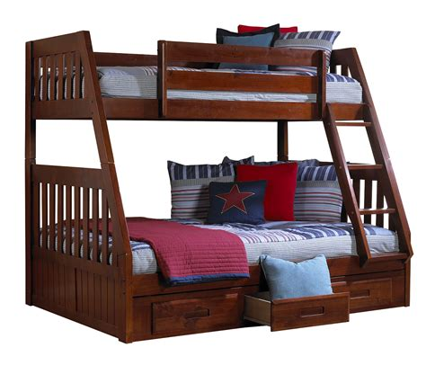 discovery world furniture twin  full merlot mission bunk beds kfs stores