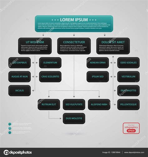 Modern Web Design Template With Complex Organization Chart Strict Corporate Business Style Complex Organizational Chart Template