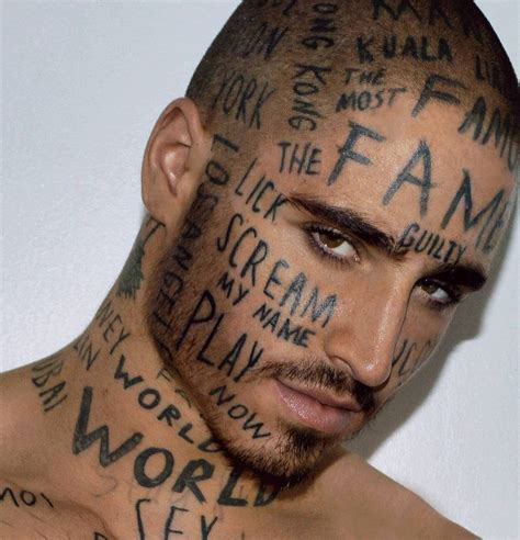 about face tattoo with words