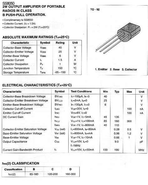 c9013 transistor pin configuration transistor c9013 pinout 28 images ss9013 n p n transistor complementary pnp replacement