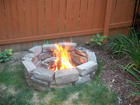 Home Made Firepit Pit Pits Rock