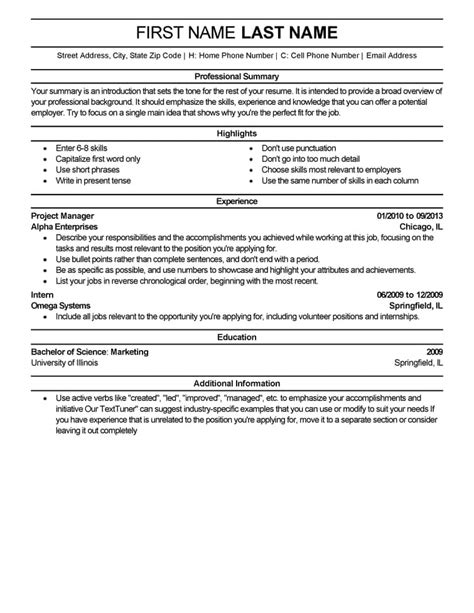It Professional Resume Templates by Free Resume Templates Fast Easy Livecareer