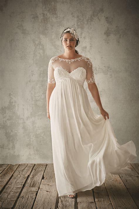 hochzeitskleid plus size fashion plus size wedding dresses with half sleeves sheer
