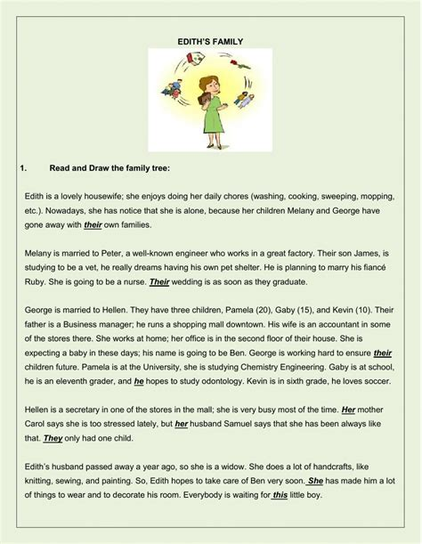 biography questions for family members family reading comprehension and other activities