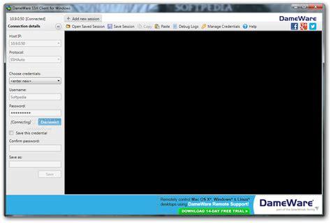 ssh console dameware ssh client 1 0 0 0