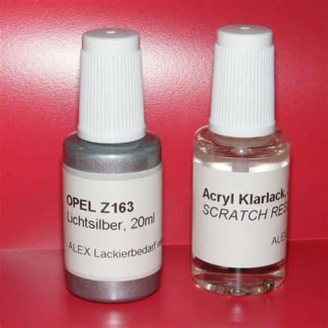 Lackstift Klarlack Polieren by Lackstift Opel Z163 Lichtsilber Klarlack 2x20ml