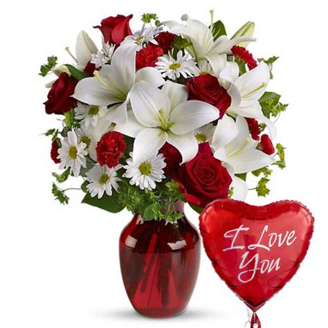 valentines flowers and balloons masterpiece flowers and balloon bouquet at send flowers