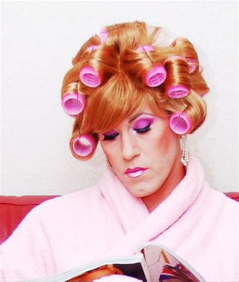 my boyfriends hair in curlers her boyfriend in the salon every saturday morning he