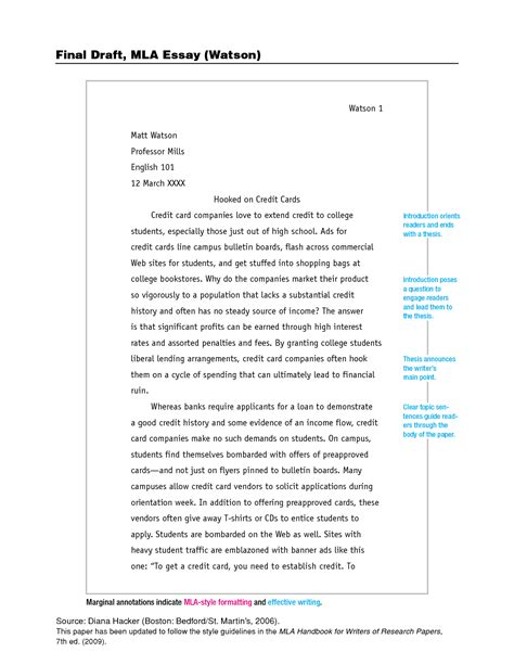essay format with thesis statement essay written in mla format mla format paper exle write