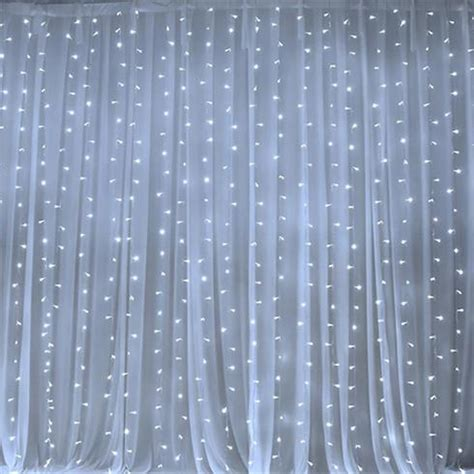 led fabric curtain 600 sequential white led lights big wedding party