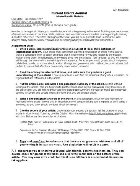Tips Current Events by Current Events Journal Docshare Tips