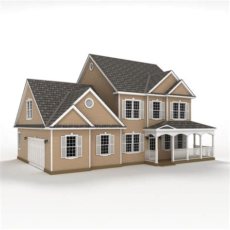 house home 3d obj 3d two story house siding