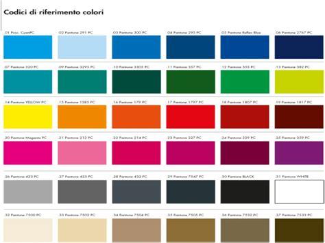 tavola colori pantone cartella colori