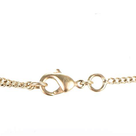 black light dinner gold chain chanel satin cc chain necklace black light gold 151237