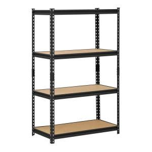 shelves at home depot edsal 60 in h x 36 in w x 18 in d 4 shelf steel shelving unit in black ur 364blk the home depot