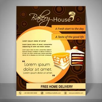 bakery brochure template bakery flyer vectors photos and psd files free