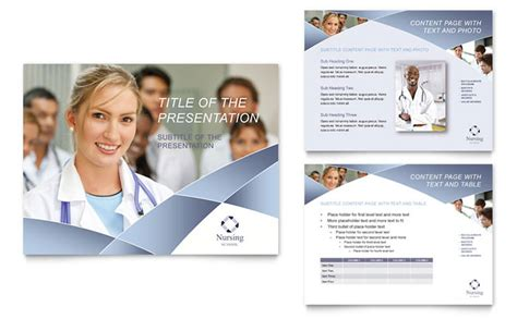 Nursing School Hospital Powerpoint Presentation Template Design Nursing Powerpoint Templates