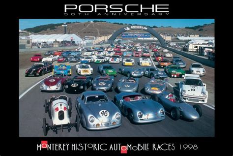 porsche garage art monterey historic races poster