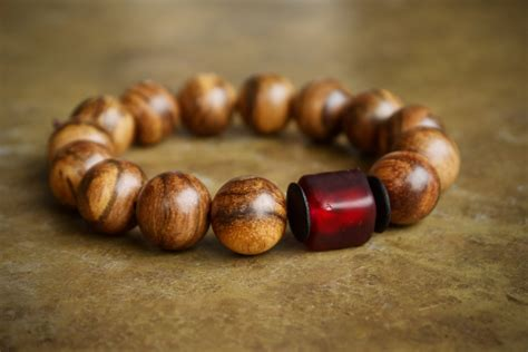 beaded bracelets mens and brown wood masculine