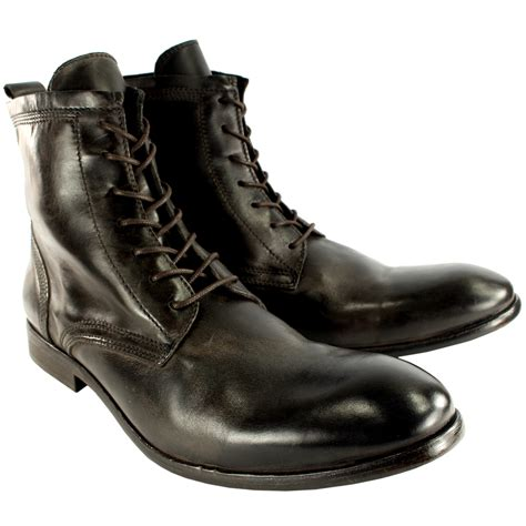 mens h by hudson swathmore leather lace up smart ankle