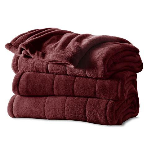 heated blanket sunbeam 174 channeled microplush heated blanket