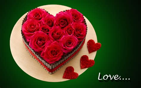 images of love rose flowers love rose flowers in heart cake beautiful hd wallpaper
