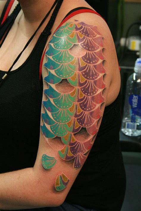 fish scales tattoo fish scale by will bodnar at cicada seattle