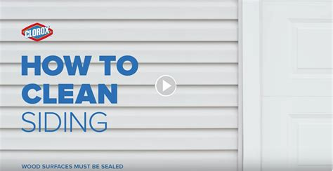 how to wash house siding how to clean siding clorox