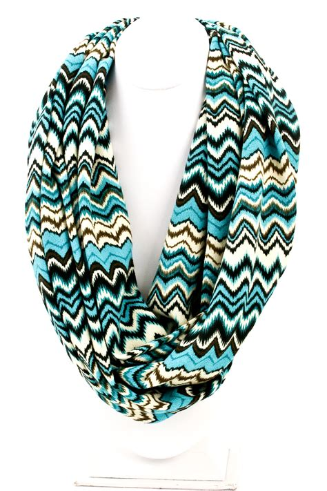 tribal print knit infinity scarf scarves