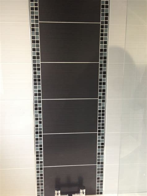 shower bath fitted with fixed rain effect shower