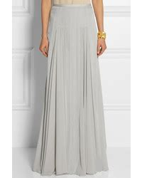 grey chiffon maxi skirt dress ala