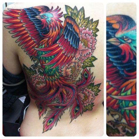 phoenix tattoo with flowers 122 best phoenix tattoo images on pinterest phoenix bird
