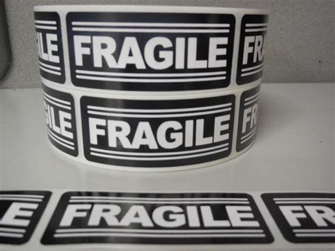 Label Sticker Pengiriman Fragile 1 100 1 25 X3 Fragile Labels Stickers For Shipping Supplies Office Products Ebay Ebay