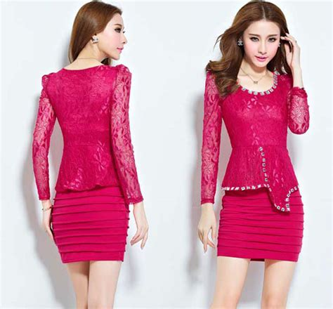 Korea Dress Pendek Brukat Mini Dress Brokat 436 baju gaun pendek trend fashion model baju pesta brokat