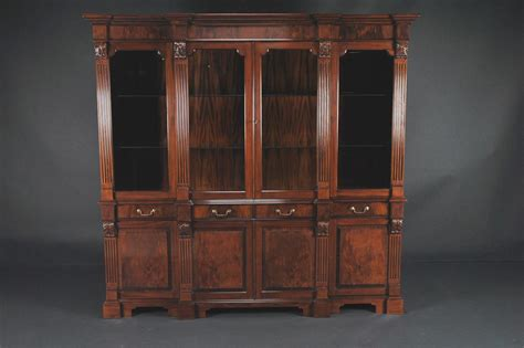 Mahogany China Cabinet regency style mahogany four door china cabinet ebay
