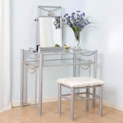 Glass Bedroom Vanity Makeup Vanity Table With Mirror Designwalls