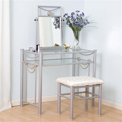 Glass Vanity Sets For Bedroom by Makeup Vanity Table With Mirror Designwalls