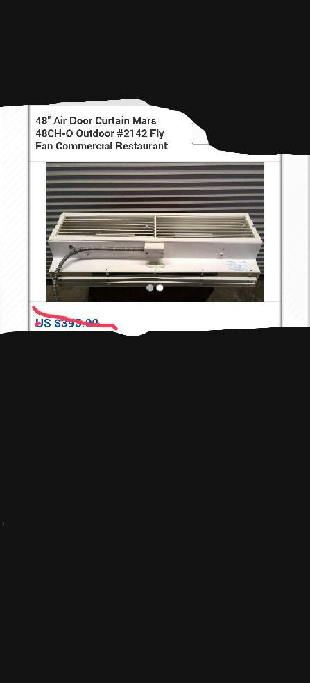 fly fan air curtain air curtain fly fan appliances in stockton ca offerup