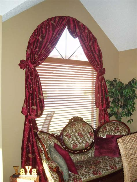 curtains for arch window best selections of curtains for arched windows homesfeed