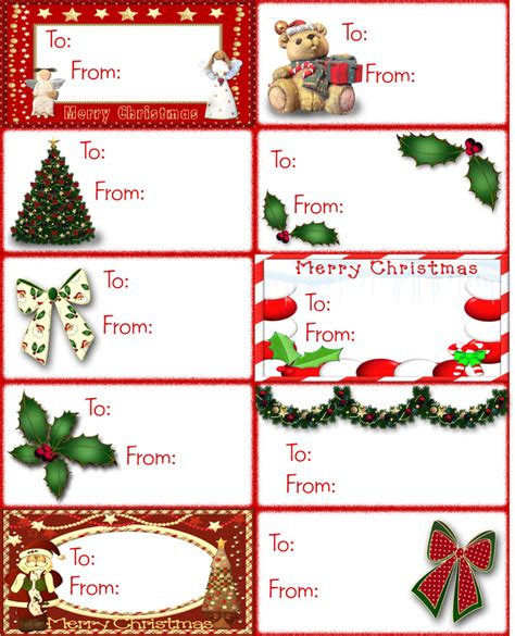 8 best images of christmas card tags printables free