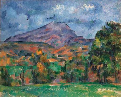 painting montana paul cezanne la montagne sainte victoire 1888 1890